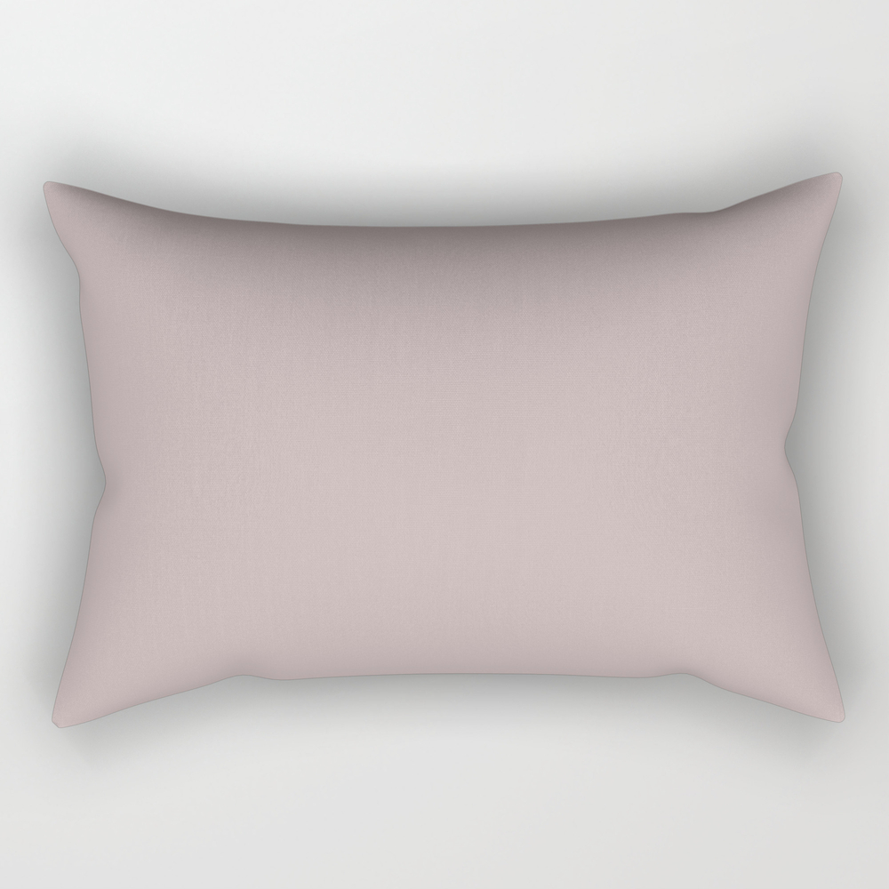 Silver Pink - Solid Color Rectangular Pillow RPW8687772