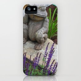 Wooden Frog iPhone Case