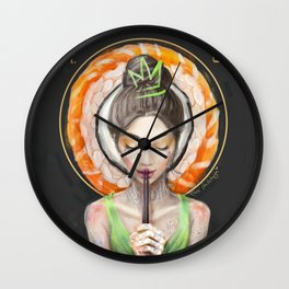 Rice to meet You Wall Clock