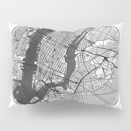 New York Map Universe Pillow Sham