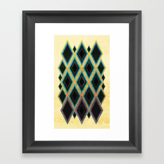 Diamond pattern Framed Art Print