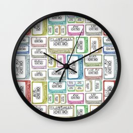 Tape Mix 2 Vintage Cassette Music Collection Wall Clock