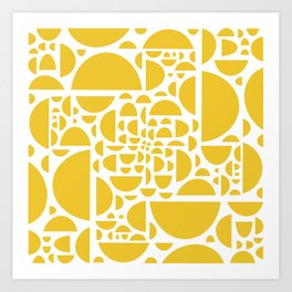 Mid Century Lemon Wedges  Art Print