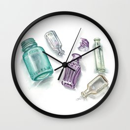 Ancient Bottles Wall Clock