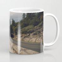 yosemite Mugs featuring Yosemite Tunnel  by Laura Ruth