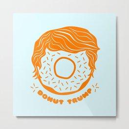 donut trump funny trump parody president usa election 2020 Metal Print