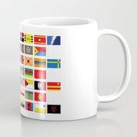 thundercats Mugs featuring SH as flags by Fabian Gonzalez