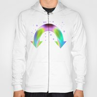 rainbow reactive Hoody