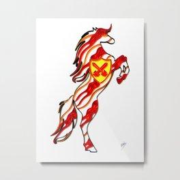 Fight horse Metal Print