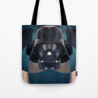 darth vader Tote Bags featuring Darth Vader by lazylaves