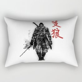 One Armed Wolf Rectangular Pillow