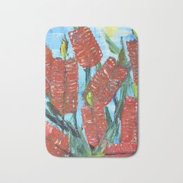 Rustic Bottle Brush Bath Mat