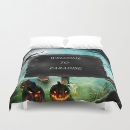 WELCOME TO PARADISE. Duvet Cover