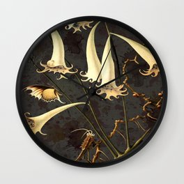 Franz Sedlacek Blooms And Insects I Wall Clock