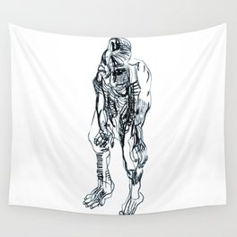 Pensive. Wall Tapestry