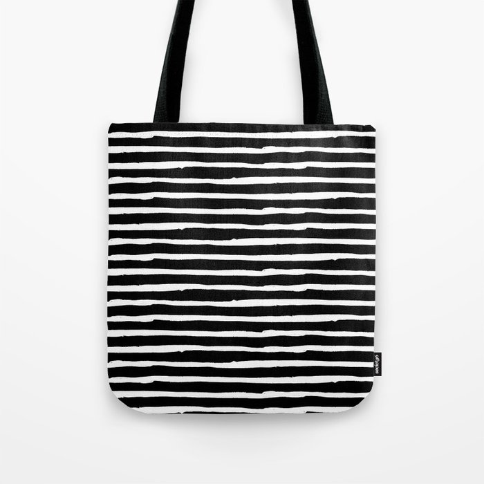 Hand Drawn Stripes Tote Bag