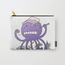 Angry octopus annoyed by plastics Carry-All Pouch
