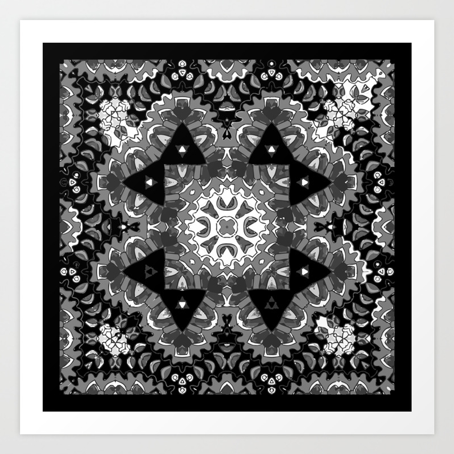 mandala calming coloring page prints