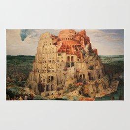 The Tower of Babel by Pieter Bruegel the Elder Rug