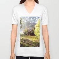 kangaroo V-neck T-shirts featuring Kangaroo by Nove Studio