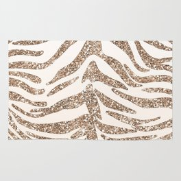 Glitter and Gold Tiger Stripes Rug
