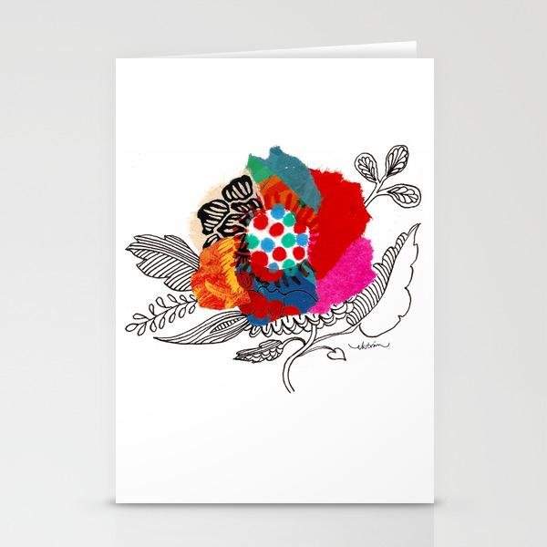 Mina Flower Stationery Cards By Lisaeks Society6