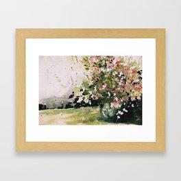 petites fleurs d'Espagne Framed Art Print