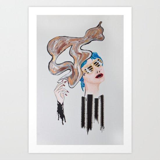 Veronica Sawyer Smokes Art Print