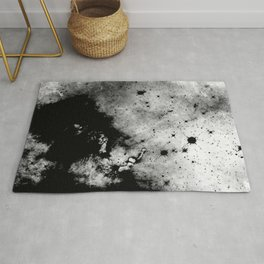War - Abstract Black And White Rug