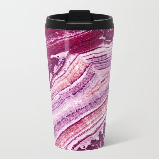 Purple Marble Metal Travel Mug