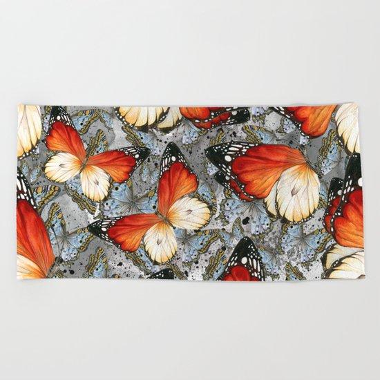 Butterflies #2 Beach Towel