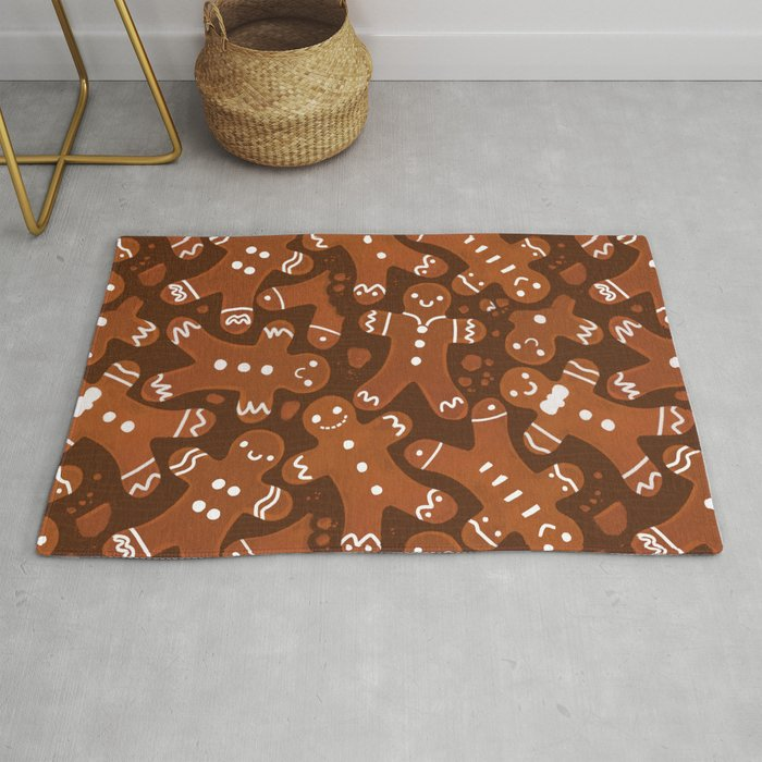 Gingerbread Man Pattern Rug By Exeivier