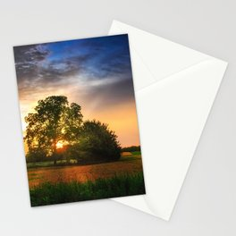 Two trees in the field Stationery Cards