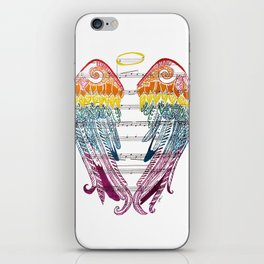 I Am Here ( Rainbow Angel Wings ) iPhone Skin