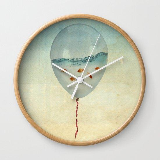 balloon fish Wall Clock