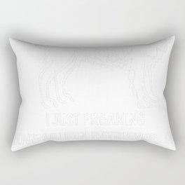 Golden-Retriever-tshirt,-just-freaking-love-my-Golden-Retriever. Rectangular Pillow