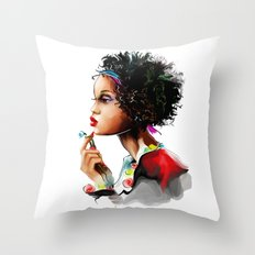 African woman Throw Pillow