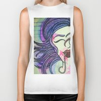 sister Biker Tanks featuring Sister by Taylor James