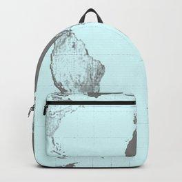World Map : Gall Peters Aqua Backpack