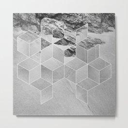 Sandpiper (cubism) Metal Print