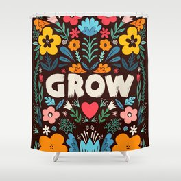 GROW floral Shower Curtain