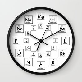 PERIODIC TABLE OF ELEMENTS - 24 HOUR Wall Clock