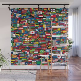 Flags of all countries of the world Wall Mural