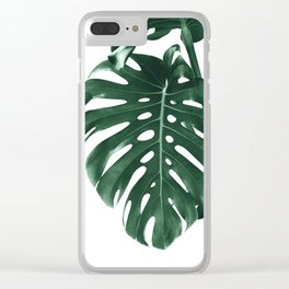 Monstera Delight #4 #tropical #decor #art #society6 Clear iPhone Case