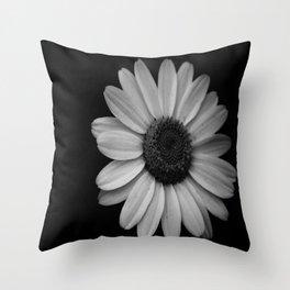 Darkened Daisy Throw Pillow