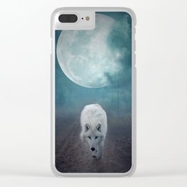 White Wolf Moon by GEN Z Clear iPhone Case