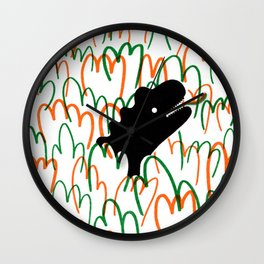 Jungle Dinosaur Wall Clock