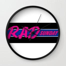 Rad Sunday Wall Clock