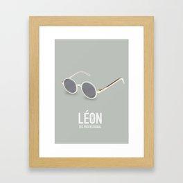 Leon: The Professional - Alternative Movie Poster Framed Art Print