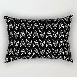 Insignia Pin Rows // Black Rectangular Pillow